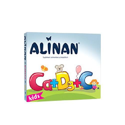 Alinan Calciu +D3+C Kids 20cpr masticabil Fiterman