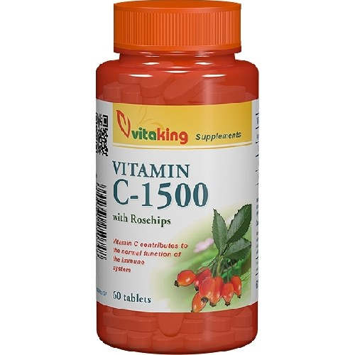 Vitamina C 1500mg cu Macese 60tab Vitaking