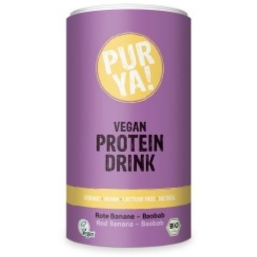 Vegan Protein Drink Banana-Baobab Bio 550gr Purya