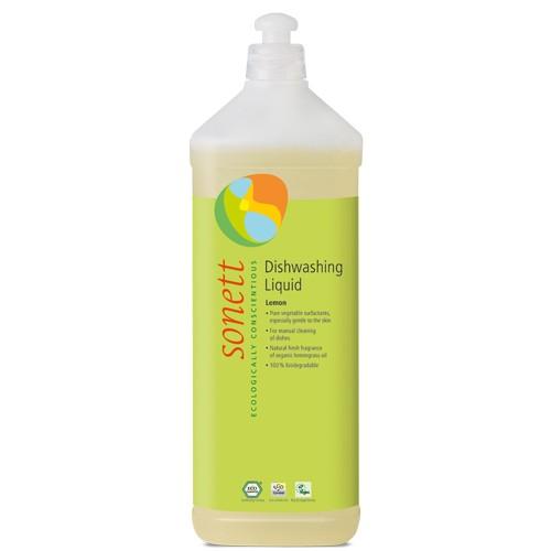Detergent Ecologic Pentru Spalat Vase Cu Lamaie 1l Sonett