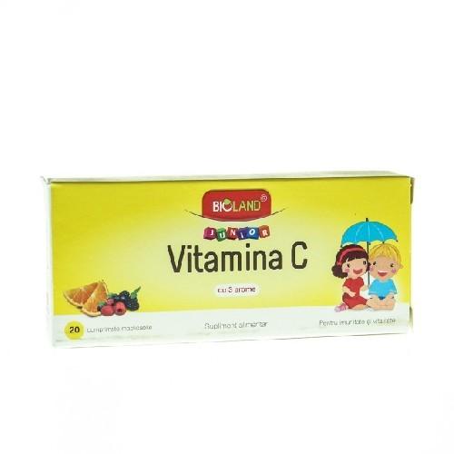 Vitamina C Junior Cu 3 Arome 20cpr Bioland
