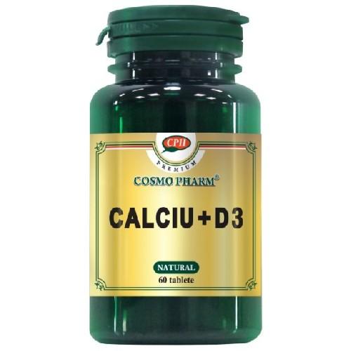 Calciu cu Vitamina D3 Premium 60cpr CosmoPharm