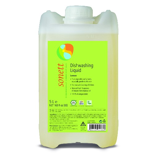 Detergent Ecologic Pentru Spalat Vase Cu Lamaie 5l Sonett