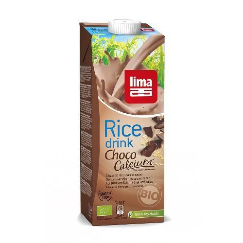 Lapte de Orez cu Ciocolata + Soia si Calciu Bio 1l Lima