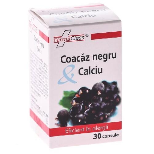 Coacaz Negru & Calciu 30cps Farma Class