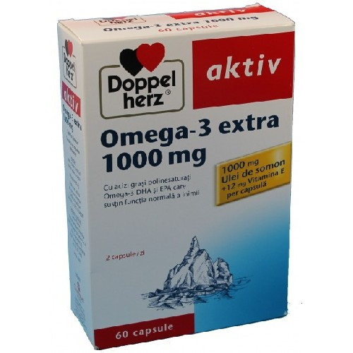 Omega 3 Extra 1000mg 60cps Doppel Herz