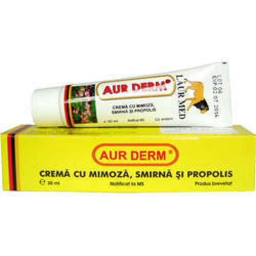 Crema Aur Derm cu Mimoza, Smirna, Propolis 30ml Laur Med