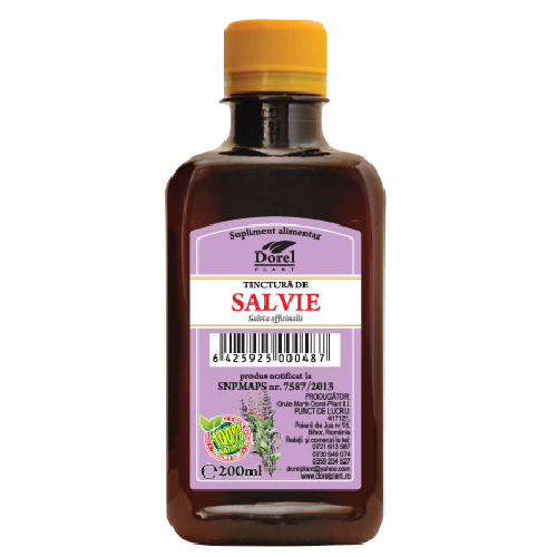 Tinctura de Salvie 200ml Dorel Plant