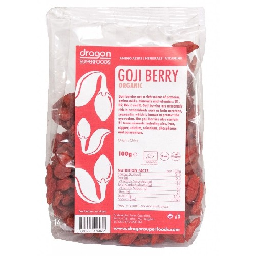 Goji Berries Raw Bio 100gr Dragon Superfoods