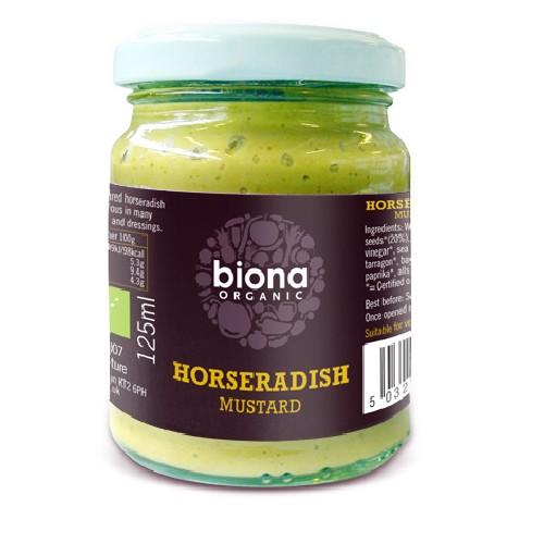 Mustar Cu Hrean Bio 125gr Biona