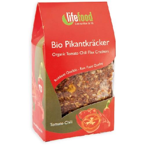 Crackers cu Chilli si Rosii Raw Bio 90gr Lifefood