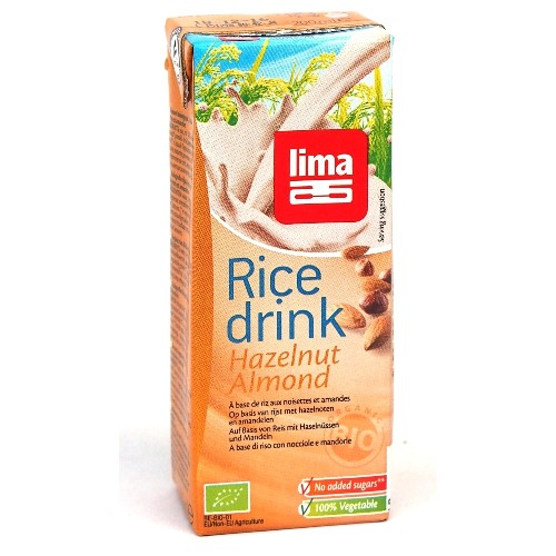 Lapte De Orez Cu Migdale Si Alune De Padure Bio 200ml (cu Pai)