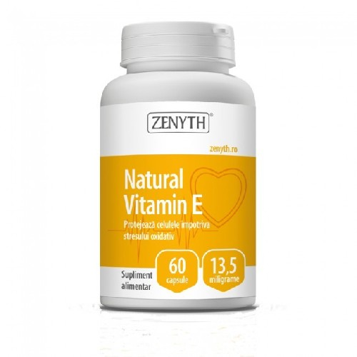Natural Vitamin E 60cps Zenyth