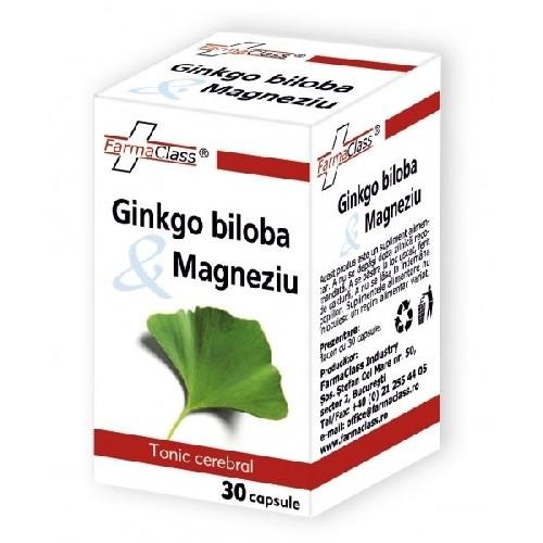 Ginkgo Biloba & Magneziu 30cps Farma Class