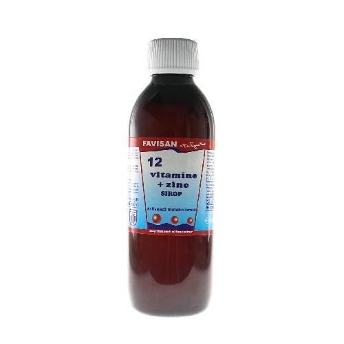 Sirop 12 Vitamine + Zinc 250ml Favisan