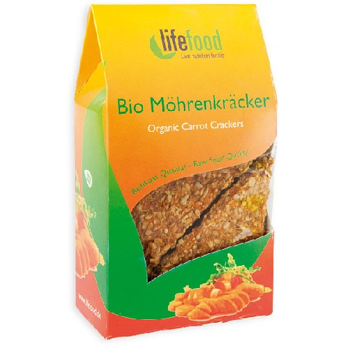 Crackers cu Morcovi Raw Bio 85gr Lifefood