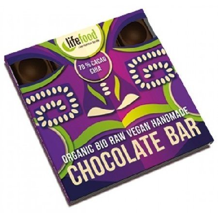 Ciocolata cu 70% Cacao si Chia Raw 35g Bio Lifefood
