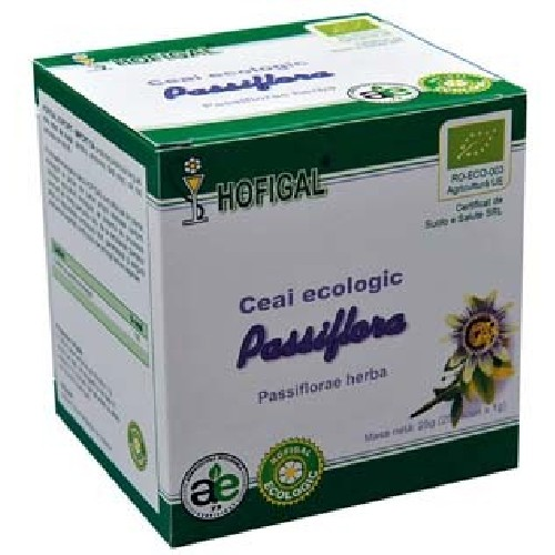 Ceai Passiflora Eco 25dz 1gr Hofigal
