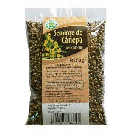 Seminte de Canepa Nedecorticate100gr Herbavit
