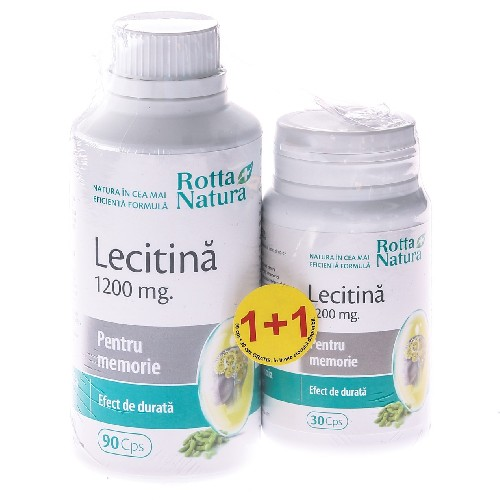 Lecitina 1200mg 90cps+ 30cps GRATIS Rotta Natura