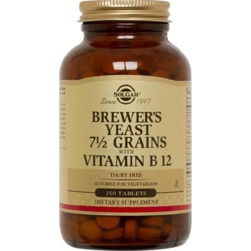 Brewer's Yeast 500mg 250cpr  + Vit B12 (Drojdie de Bere) Solga