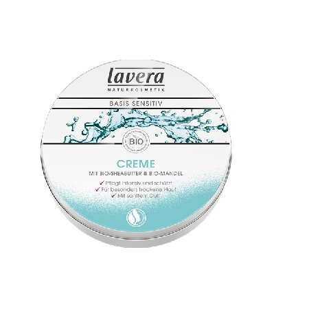 Crema Basis Sensitiv cu Migdale si Unt de Shea 150ml Lavera