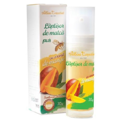 Laptisor de Matca Pur cu Aroma de Mango 30gr Albina Carpatina