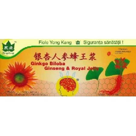 Fiole Ginkgo si Ginseng Yong Kang 10fiole