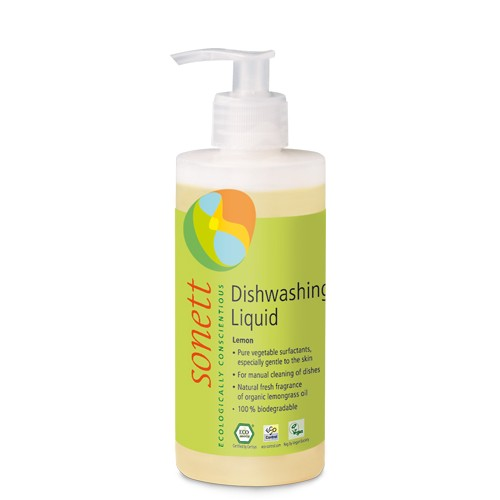Detergent Ecologic Pentru Spalat Vase Cu Lamaie 300ml Sonett