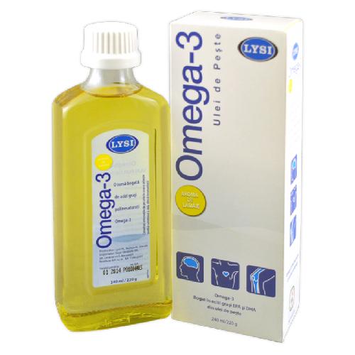 Omega 3 cu Aroma de Lamaie 240ml Lysi