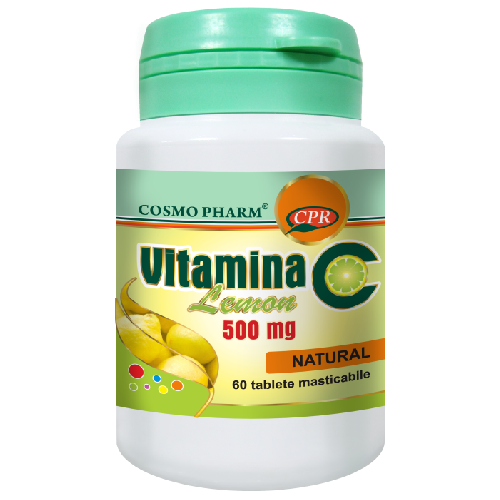 Vitamina C 500mg Lemon 60tab Cosmopharm