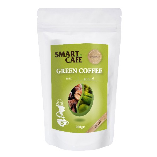 Cafea Verde Macinata + Cafea Prajita Decofeinizata Bio 200gr