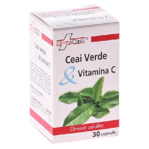 Ceai Verde + Vitamina C 30cps Farma Class