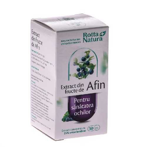Extract din Fructe de Afin 30cps Rotta Natura