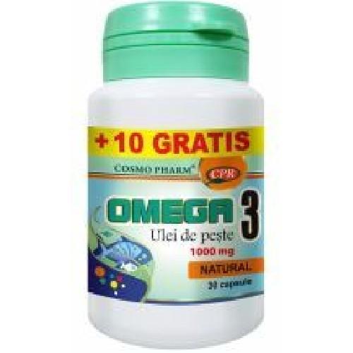 Omega 3 Ulei de Peste 1005mg 30+10cps Cosmopharm