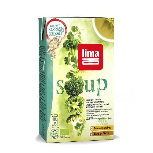 Supa Crema De Broccoli Cu Hrisca Si Coriandru Bio