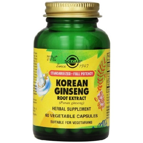 SFP Korean Ginseng Root Extract 60cps Solgar