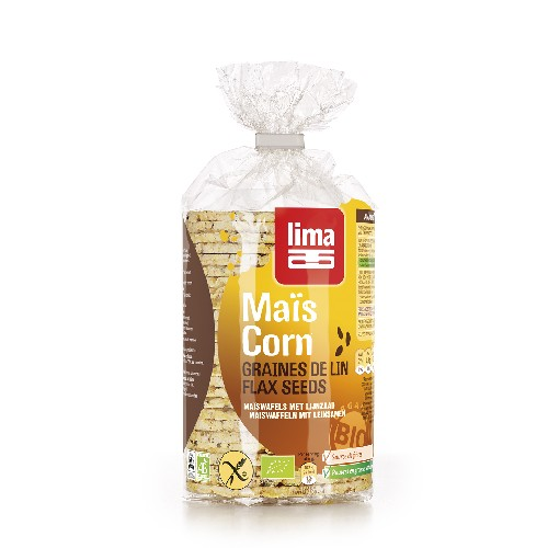 Rondele Din Porumb Expandat Cu Seminte De In Bio 150gr Lima