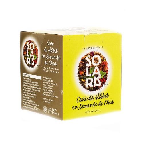 Ceai de Slabit cu Seminte de Chia 20plicuri Solaris
