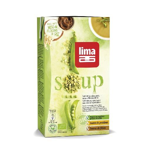 Supa Crema De Mazare Cu Miso Si Orez Bio 1l Lima