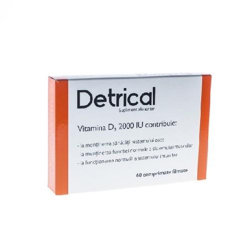 Detrical Vitamina D3 2000 Ui 60cpr Zdrovit