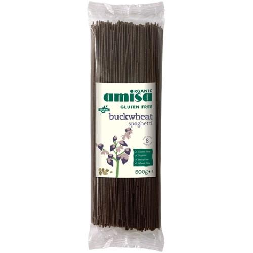 Spaghette din Hrisca Fara Gluten Bio 500g Amisa