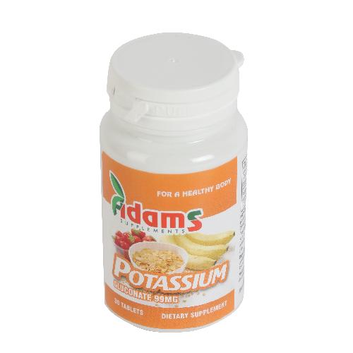 Potasiu (gluconat de potasiu) 99mg 30tablete