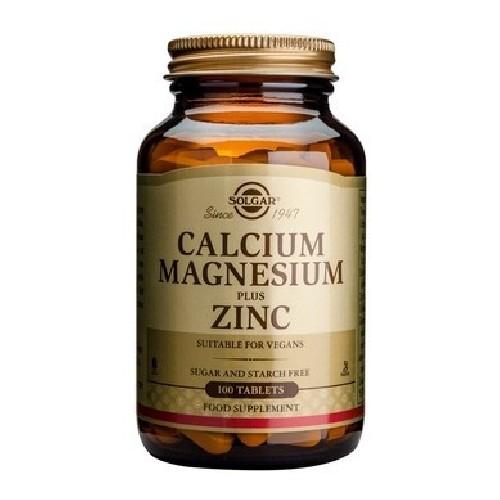 Calcium  Magnesium + Zinc 100tab Solgar