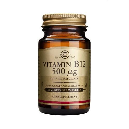 Vitamina B12 (Cobalamina) 500mcg 50cps Solgar