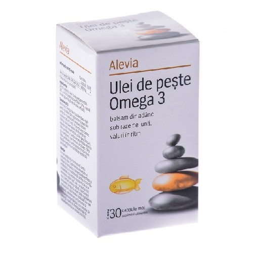 Ulei de Peste Omega 3 30cps Alevia