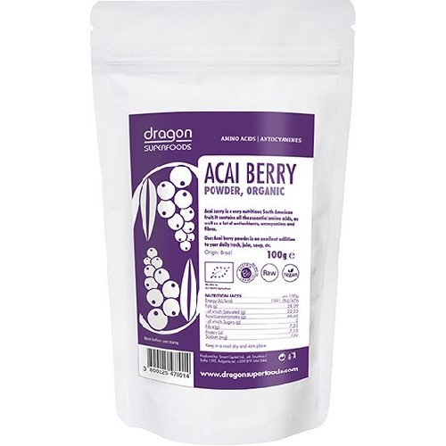 Acai Pulbere Raw Bio 100gr Dragon Superfoods