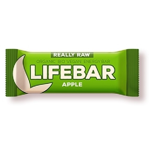 Lifebar Baton cu Mere Raw Bio 47gr Lifefood