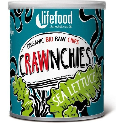 Chips Crawnchies cu Sea Lettuce (Alge Marine) Raw Bio 20gr