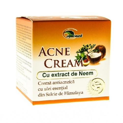 Crema Antiacneica Cu Extract Neem 50ml Ayurmed